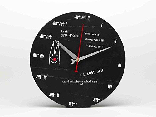 Ausgefallene Wanduhr ~ Bierdeckel ~ Köln Uhr schwarz analog kölsch Kölner Dom