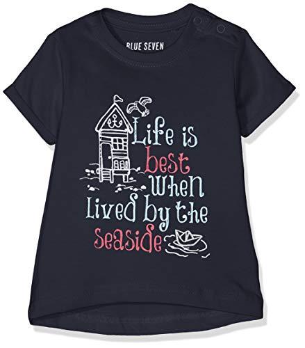 Blue Seven Baby-Mädchen T-Shirt Rundhals, (Dk Blau 574), (Herstellergröße: 62)