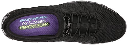 Skechers Gratis shake-it-off, Baskets Basses femme Noir 3