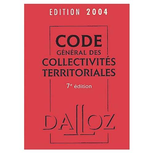 Code général des collectivités territoriales 2004