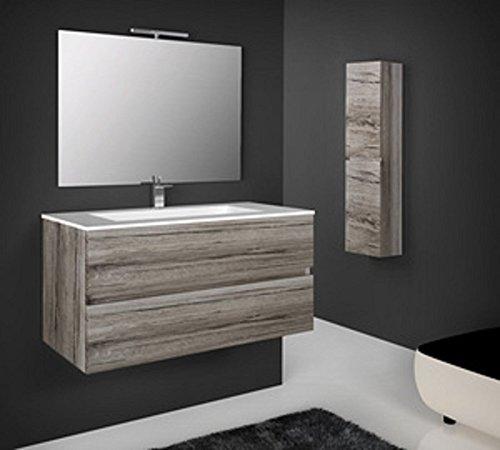 Salone-negozio-online mobile colonna sospesa bagno in legno 35x22x140h rovere grigio