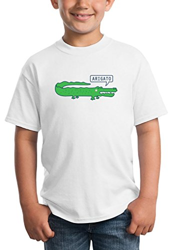 aligator-crocodile-arigato-funny-kids-unisex-t-shirt-ages-5-13-medium