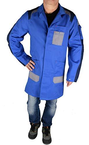 Profi Herren Arbeitsmantel Berufsmantel Kittel Workwear Blau, M