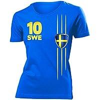 love-all-my-shirts 7 verschiedene SCHWEDEN FANSHIRTS Motive auswählbar - Damen T-Shirt Gr.S bis XXL - Golebros