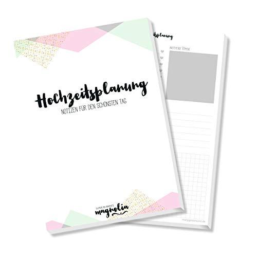 Hochzeitsplaner, Notizblock zur Hochzeitsplanung, Checkliste Hochzeit, Terminplaner, Hochzeitsordner