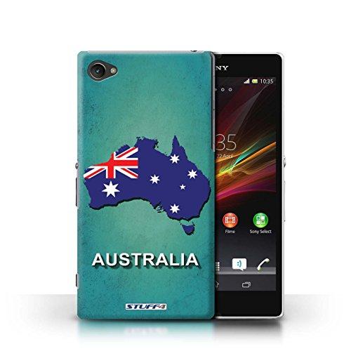 Kobalt® Imprimé Etui / Coque pour Sony Xperia Z1 Compact / Tchèque/Czechian conception / Série Drapeau Pays Australie
