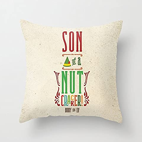 Levionlinesale No.4770 Buddy the Elf Son of a Nutcracker 18 X 18 Inch Pillow Cover