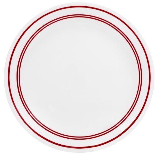 Corelle Livingware Dinner Plate, 10-1/4-Inch, Classic Cafe Red by CORELLE Corelle Classic Cafe