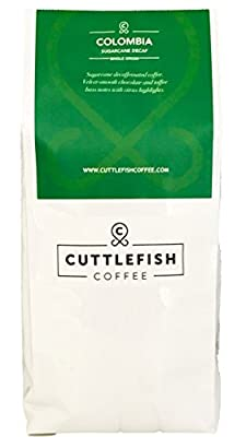Sugarcane Decaffeinated Colombia Freshly Roasted Coffee Beans Perfect For Espresso, Cafetiere, Aeropress, Chemex and Hario from Cuttlefish Coffee
