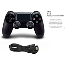 Porro Fino PS4 wired controller for Playstation 4, professional usb PS4 wired gamepad for PlayStation 4/PS4 Slim/PS4 Pro cable length 1.5 m (black)