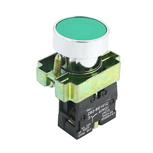 AC 240 V 3 A SPST 1 NO Momentary Circuit Control Push Button Switch grün -