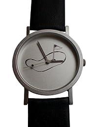 Armbanduhr mit Golfmotiv in Box
