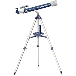 Bresser Junior Telescope 60/700 AZ Refractor Telescope - Blue/Grey