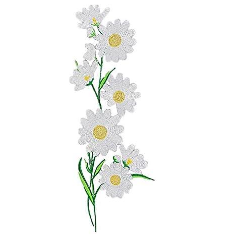 Daisy fleurs brodé à coudre ou Fer Sur les patchs
