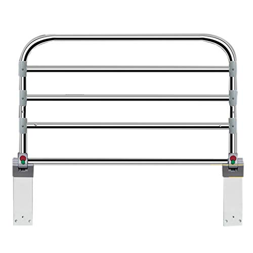 Barrera Cama Barandilla Cama Carril de Seguridad Mayor Adulto Plegable Largo del Acero Inoxidable de los 90cm, Guardia Ajustable de la Cama para el Hospital casero