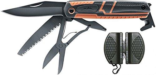 SET: Alpina Sport ODL Multitool , 420 Stainless Steel Taschenmesser Outdoormesser 5.0781 + G8DS® Messerschärfer