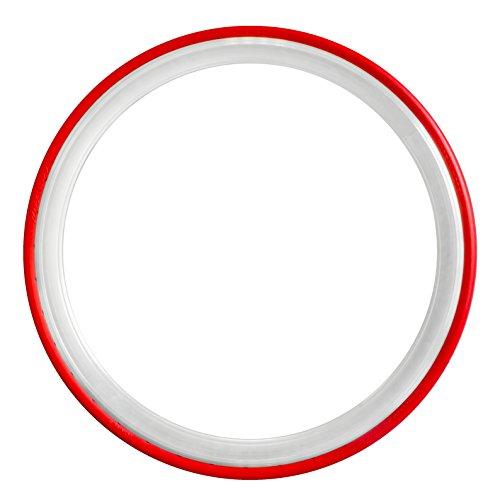 700 x 23C Tannus Vollgummireifen Slicks Fixie Singlespeed Reifen Rennrad, Farbe:rot