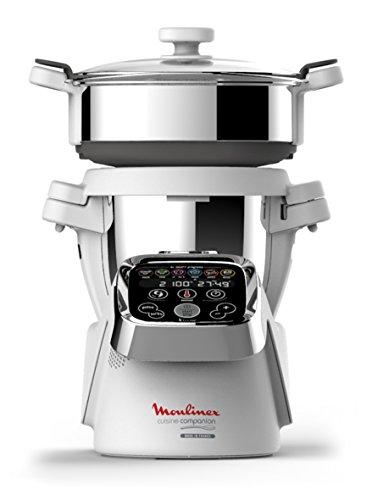Moulinex HF802AK2 Cuisine Companion Robot da Cucina Multifunzione con 6 Programmi Automatici e Accessorio Vaporiera
