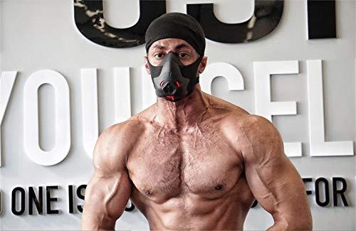 Friorange Sport Workout Trainingsmaske Hypoxische Atemwiderstandsmaske Fitness Laufmaske Ausdauermaske Erreichen Sie hohe Höhenerhöhungseffekte mit 3 Stufen Luftstromregler, I