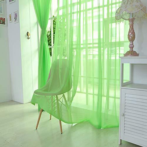 Stück 3 Sheer Kostüm - Xuthuly 1 STÜCKE Reine Farbe Tüll Türfenstervorhang Drapieren Panel Sheer Schal Volants