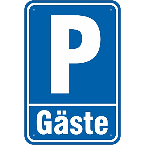 Schild Parkplatz/Parken Gäste aus Aluminium-Verbundmaterial 3mm Stark 30 x 45 cm