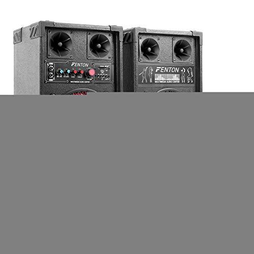 Electronic-Star STAR-Mitte Equipo de karaoke altavoces PA con micrófonos (400W potencia maxima, reproductor MP3 desde puerto USB - SD, incluye micros inalambricos con receptor)
