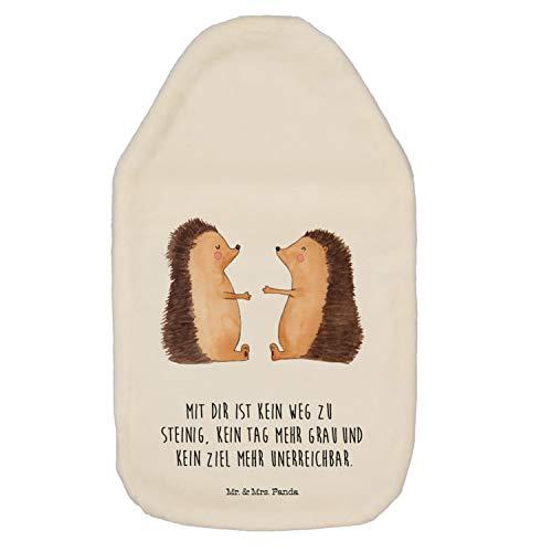 Mr. & Mrs. Panda Wärme, gemütlich, Wärmflasche Igel Liebe mit Spruch - Farbe Weiß