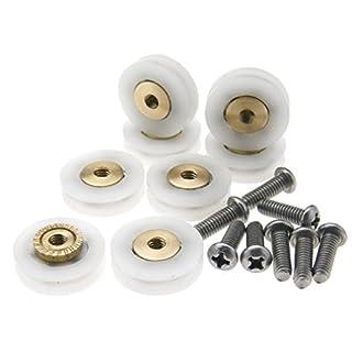 8 Pieces V Grooved 19MM Wheel Dia Shower Door Wheel Runner Roller