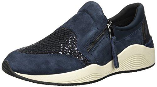 Geox Mädchen J Android Girl A Sneaker, Blau (Navy/Purple), 36 EU (Mädchen Active Outfits)