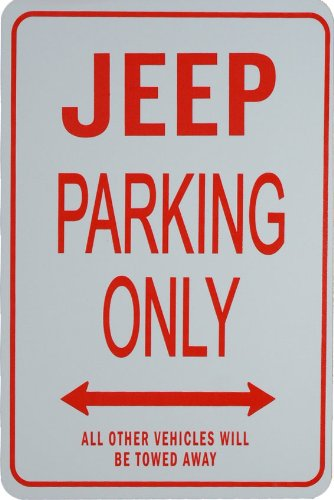 Signes de stationnement JEEP - JEEP Parking Only Sign