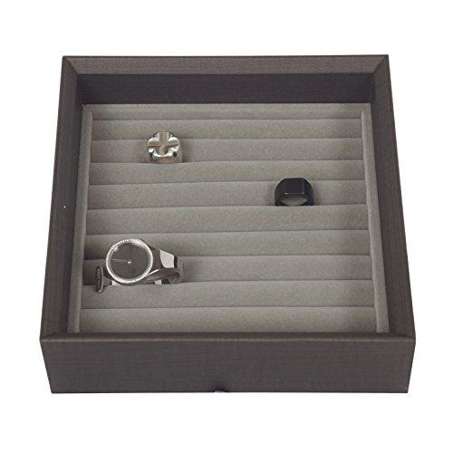 Jewellery Ring Cufflink Storage Stackable Tray Organiser