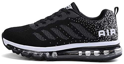 tqgold Sportschuhe Herren Damen Laufschuhe Turnschuhe Sneakers Leichte Schuhe (Schwarz,37 Größe)