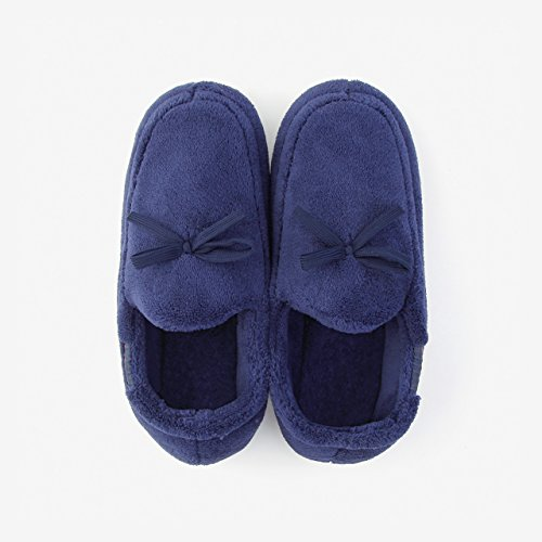 DogHaccd pantofole,Home caldo inverno pacchetto coppie con cotone pantofole donna anti-slittamento autunno spessa soggiorno scarpe. Blu scuro1