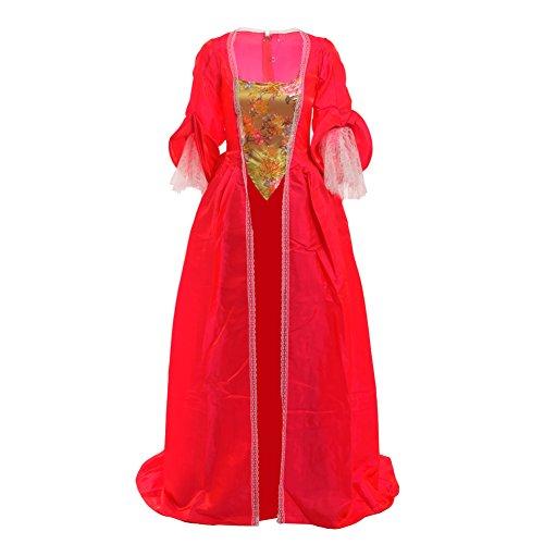 BLESSUME Damen A-Linie Kleid Gr. (S, Rot)