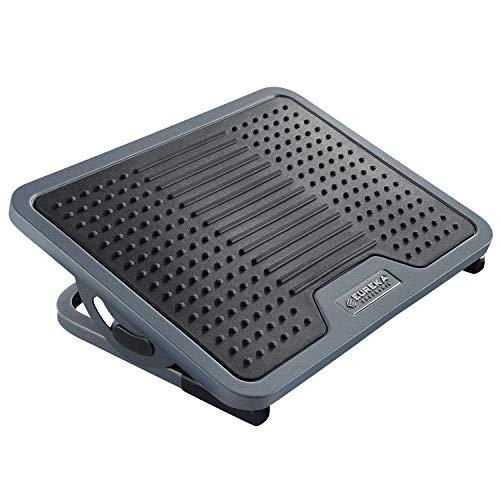 Eureka poggiapiedi ergonomico regolabile sotto scrivania poggiapiedi ergonomico per massaggi adatto per home office, nero e grigio