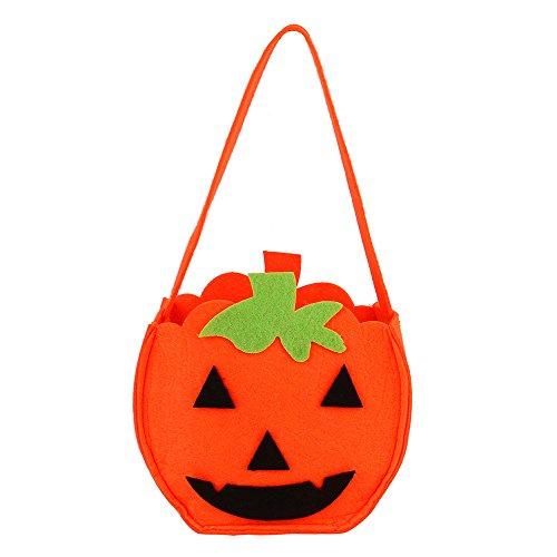 SilenceID Halloween Süßes sonst gibt's Saures Taschen Kürbisblatt Goodie Taschen Süßigkeiten Goodie Einkaufstasche Geburtstagsgeschenkbeutel für Kinder -