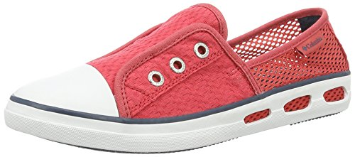 Columbia Vulc N Vent Bombie, Chaussures Bateau Femme Rouge (Sunset Red, Whale 683)