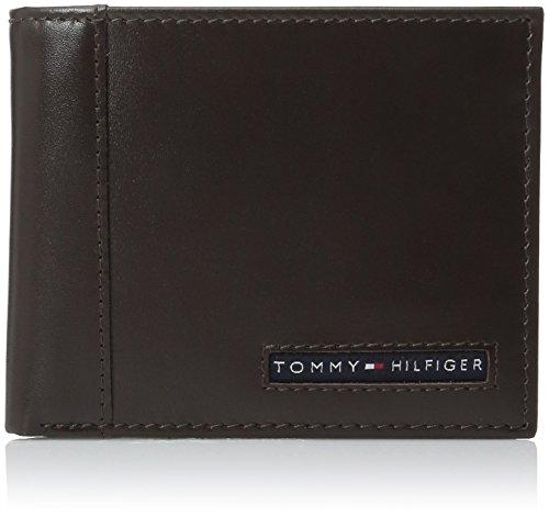 Tommy Hilfiger Herren Leder Cambridge Billfold PassFall Brieftasche, Braun (Geldbörse Herren Id Passcase)