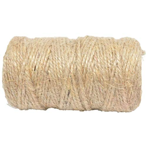 JRXyDfxn Nature Jute Twine 427Ft DIY Arts Crafts Rope Roll 3 Strands Industrial Heavy Duty Packing String Garden Horticultural Linen Thread -