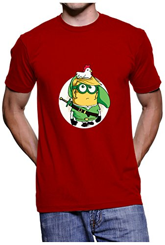 Fanideaz Branded Round Neck Cotton Ninja Minion T-Shirt for Men_Red_XXL  available at amazon for Rs.699
