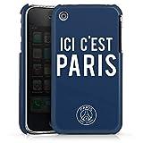 DeinDesign Coque Compatible avec Apple iPhone 3Gs Étui Housse PSG Ici C'est Paris Paris Saint-Germain