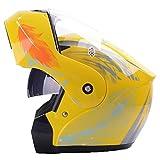 Casco moto mezza faccia donne uomini doppio lence protezione UV antivento antifog casco per moto motocross 2Xl