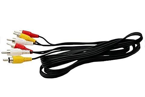 Top-Longer Stereo Cinch Audio Video Kabel Cinch zu Cinch Kabel 3x Cinchstecker auf 3x Cinchstecker - 3RCA zu 3RCA Phono Kabel 1.5m