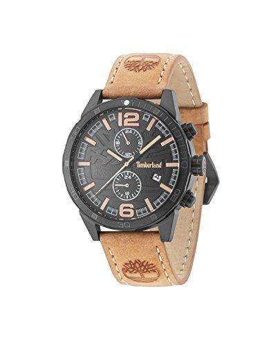 Timberland Herren Multi Zifferblatt Quarz Uhr mit Leder Armband 15256JSB/02