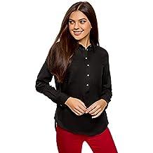 be80cd984c6a5 oodji Ultra Mujer Camisa Ancha de Algodón