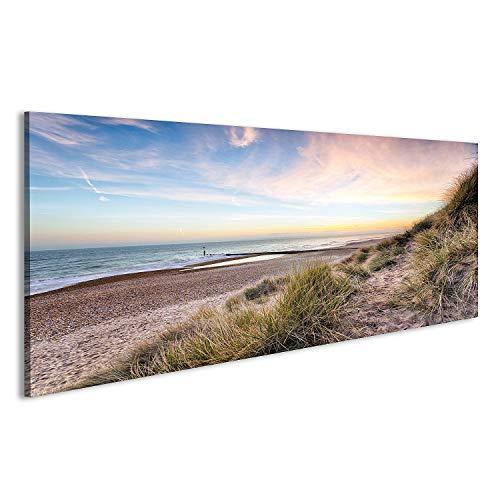 bilderfelix® Acrylglasbild Dünen Meer Sand Glasbild Wandbild auf Glas