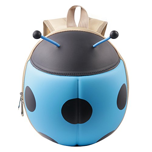 Vox Kindergartenrucksack Kindergartentasche für Jungen und Mädchen Schultasche Cartoon Marienkäfer Mini Baby Kleinkinderrucksäcke (Blau)