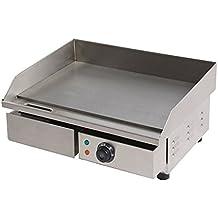 piastra elettrica in acciaio inox professionale fry top piastra liscia 550 mm