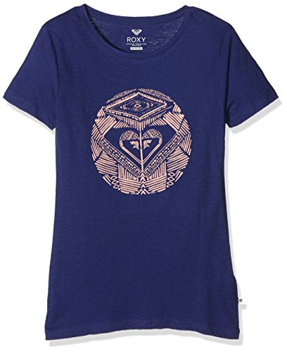 Roxy Basic Crew Dancing On T-Shirt Femme Blue Blue Print