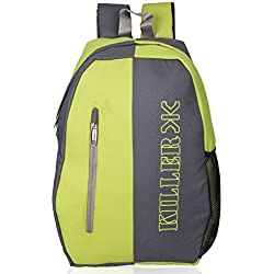 Killer Kepler College Laptop Backpack for 15.6 inch Laptop - Trendy Stylish College Backpacks For Boys - Grey+Green